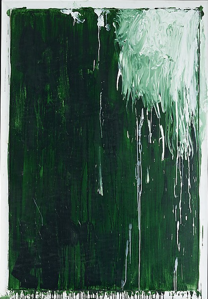 cy twombly green paintings