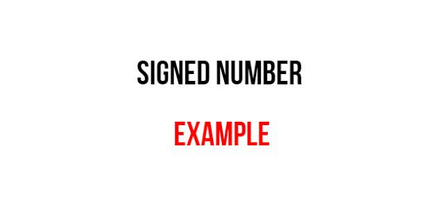 Signed number