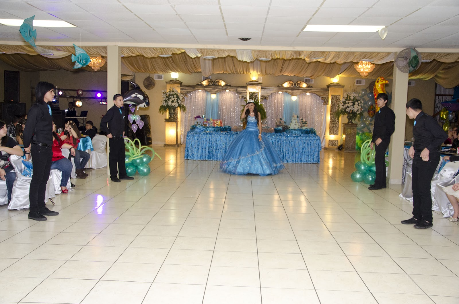 Rincon Real Hall Decorations Fishy Themed Quinceanera