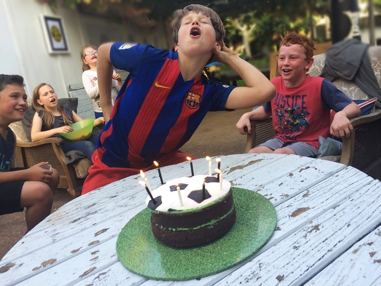 Sports birthday party - the parties are no less fun than they ever were