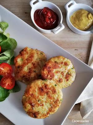 Hamburguesas fáciles de pollo y verduras caseras