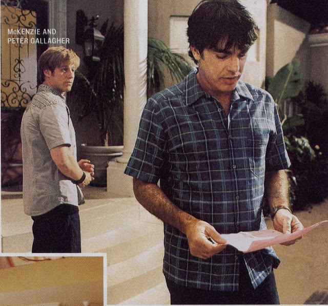 benjamin mckenzie and peter gallagher studying scripts the oc behind the scenes