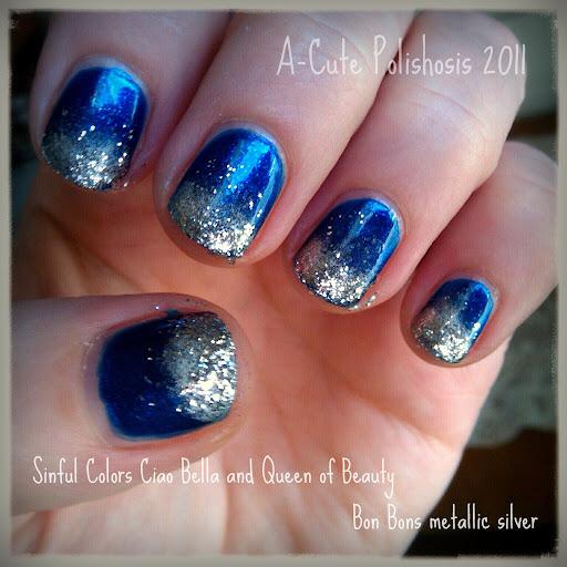 A Cute Polishosis Winter Gradient Nails