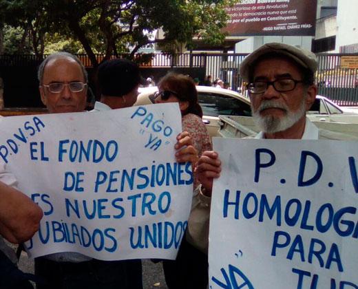 Jubilados de Pdvsa denunciaron robo del fondo de pensiones