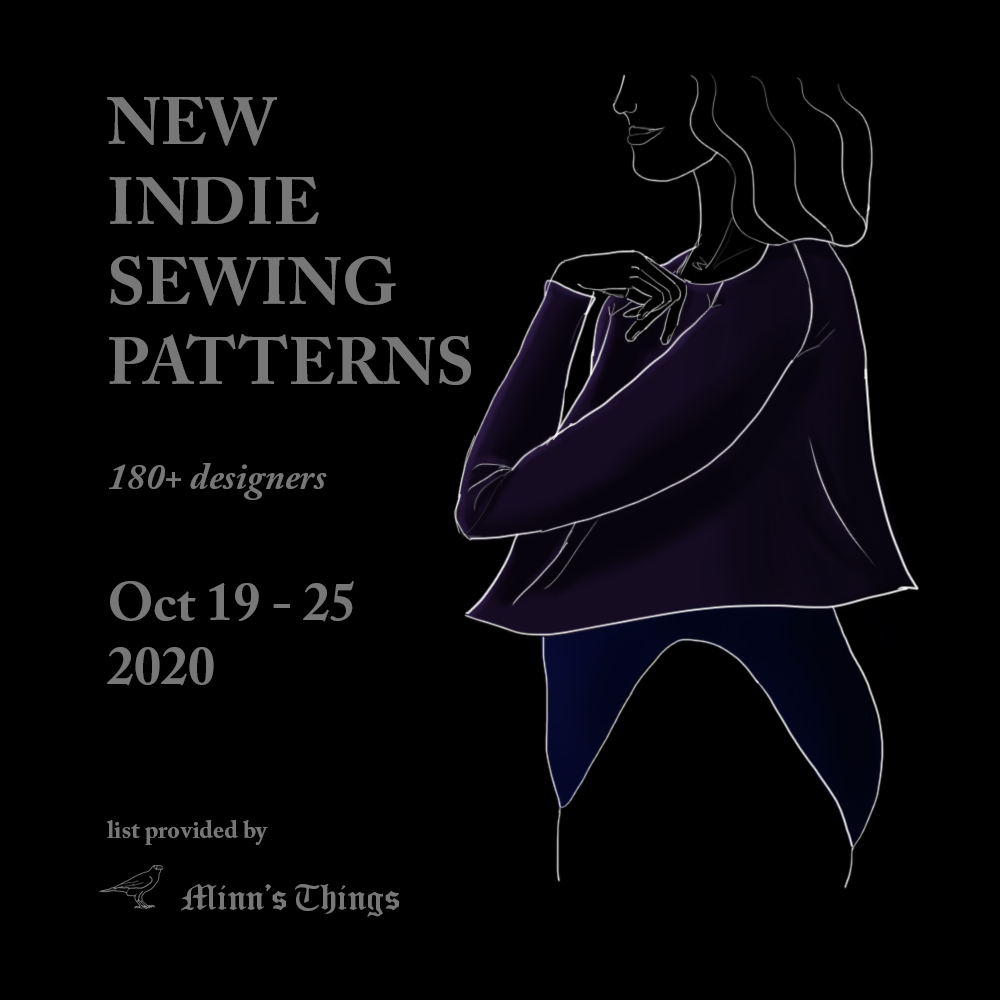 new releases updates indie independent small designers sewing patterns october 2020 list brand new coats dresses shirts hoodies pants ellie & mac love notions blank slate rad sew over it revival