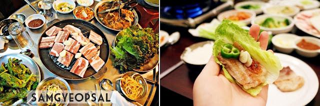 Comida coreana: Samgyeopsal