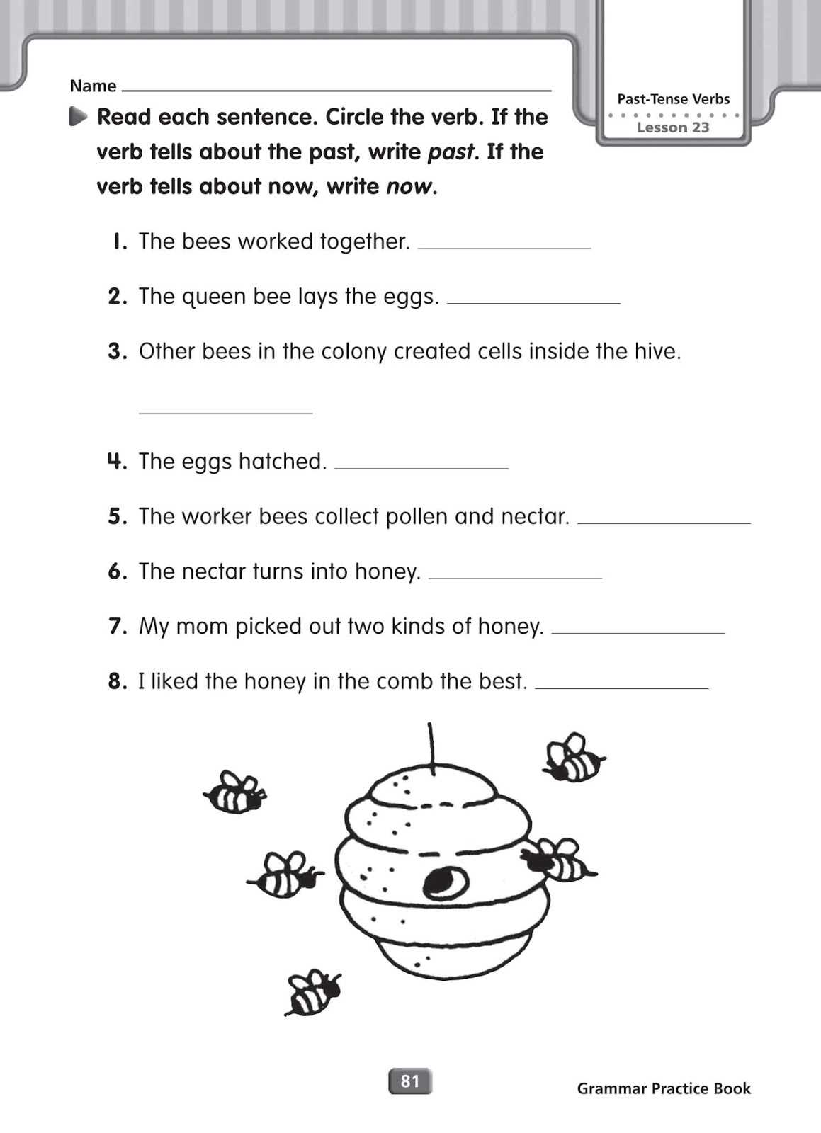 Grammar Worksheets Simple Past Tense