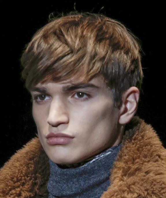 Diferentes versiones peinados con flequillo hombre Colección de cortes de pelo estilo - Peinados 2014: Flequillo para hombres