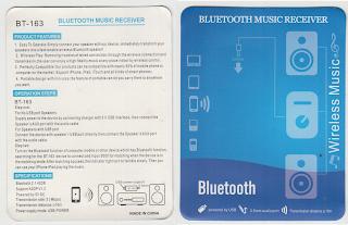 BT-163 Spesification Bluetooth Music Receiver