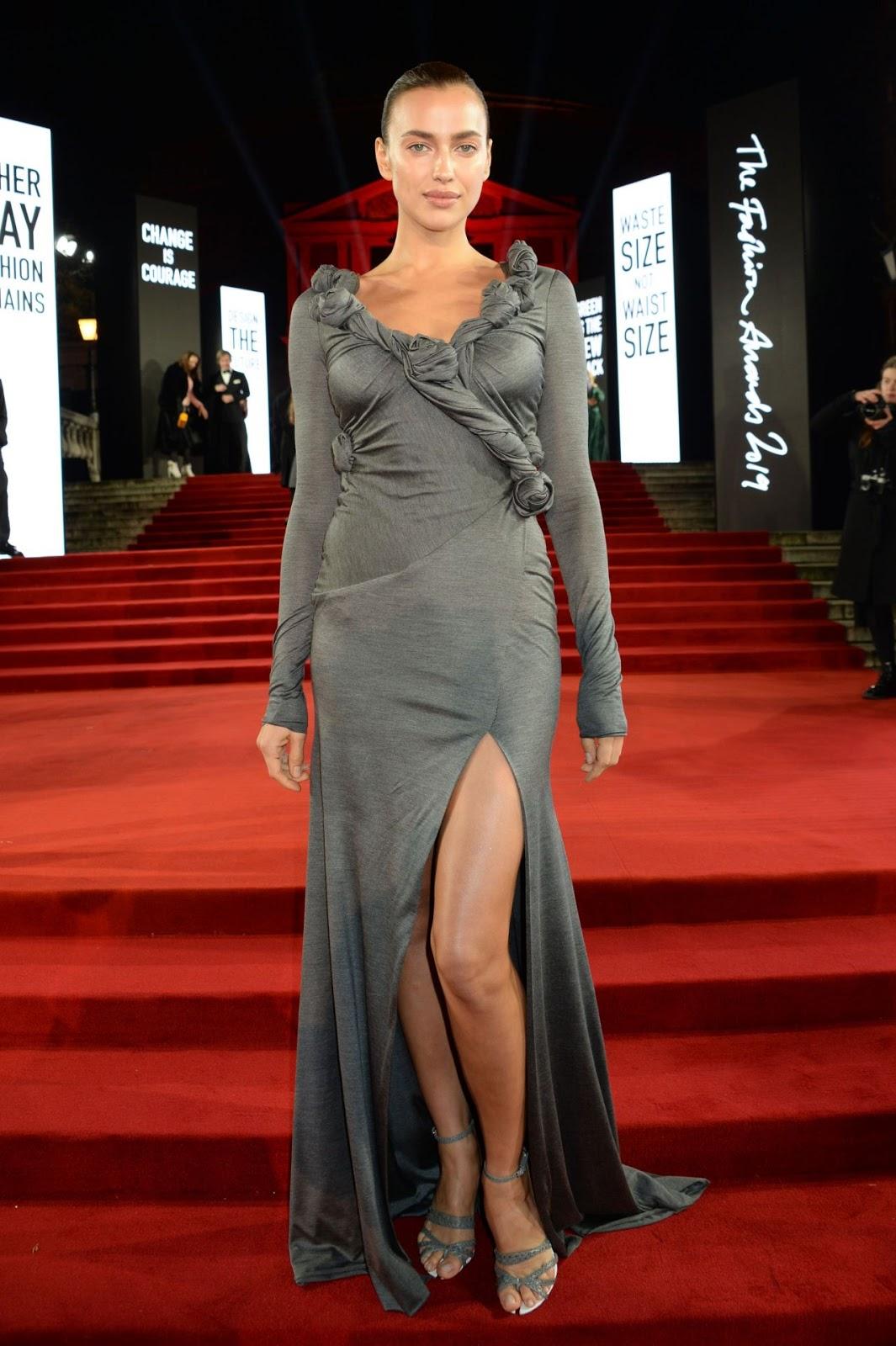 Irina Shayk – Fashion Awards 2019 Red Carpet at Royal Albert Hall in London