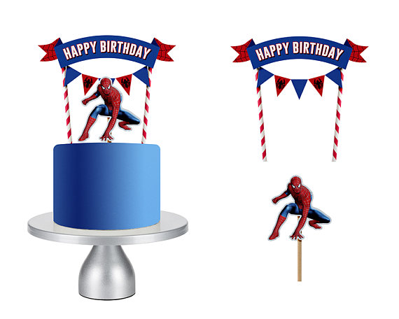 Spiderman Chibi Free Printable Cake Toppers. - Oh My ...