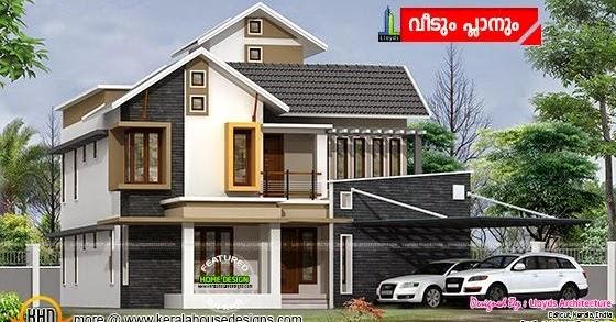 Elevation Plan Ymca : Modern house plan by shukoor c manapat kerala home