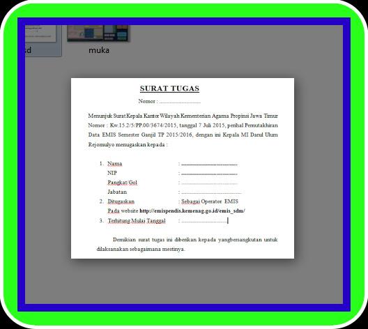 Aplikasi Surat Tugas Operator Sekolah Terbaru Sesuai Juknis