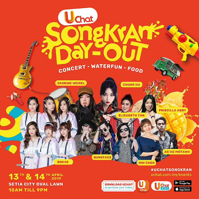 CHUNG HA, BNK48, JANNINE WEIGEL, BUNKFACE AND MORE TO MAKE A SPLASH AT UCHAT SONGKRAN DAY-OUT – CONCERT • WATERFUN • FOOD