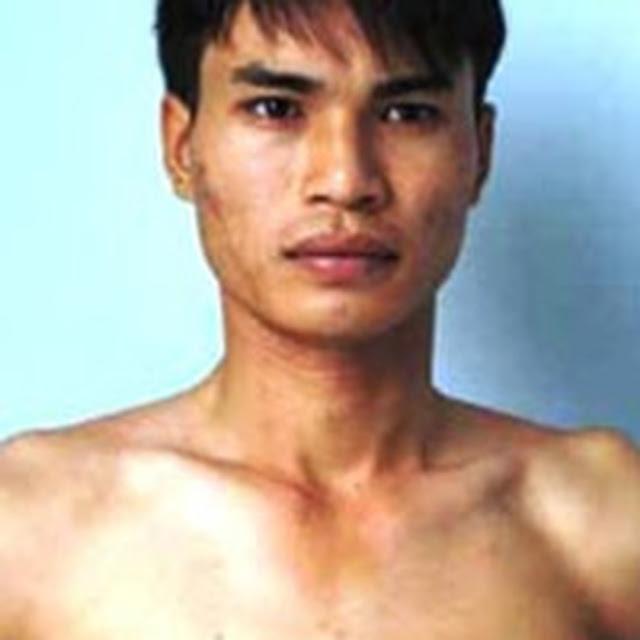 Lương Văn Trọng tại cơ quan công an.