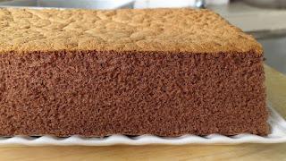 fluffy chocolate sponge cake