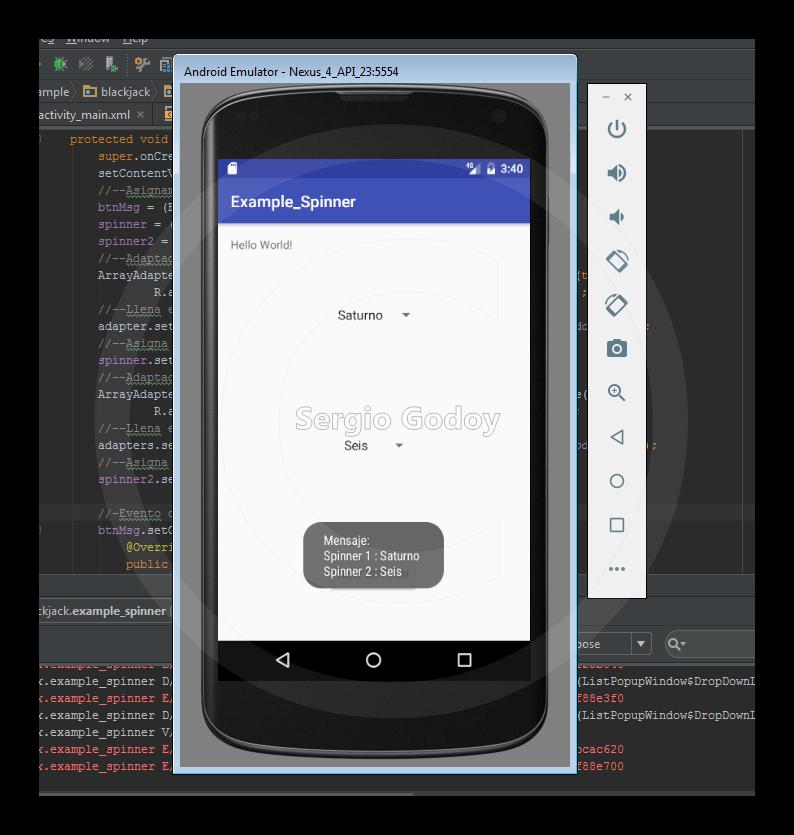 Como crear un Spinner en Android - Universo Android