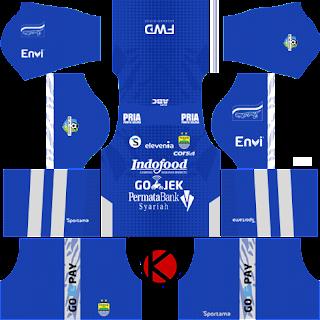 Persib Bandung Home Kit Gojek Full Set