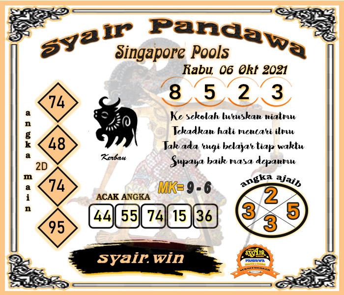 Pandawa SGP Rabu 06 Oktober 2021