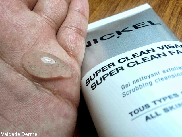 Super Clean Scrub | Gel Masculino Esfoliante para o Rosto da Nickel