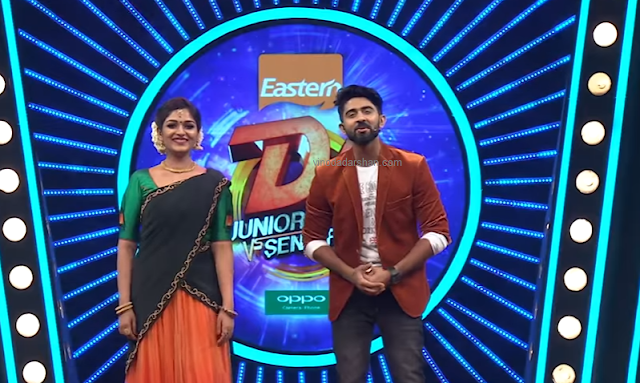 Hakha Jafar- Anchors of D4 Dance Junior VS Senior Show on Mazhavil Manorama