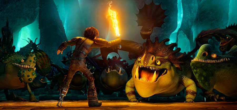 Hiccup descoperă o mulţime de specii de dragoni noi în How To Train Your Dragon 2