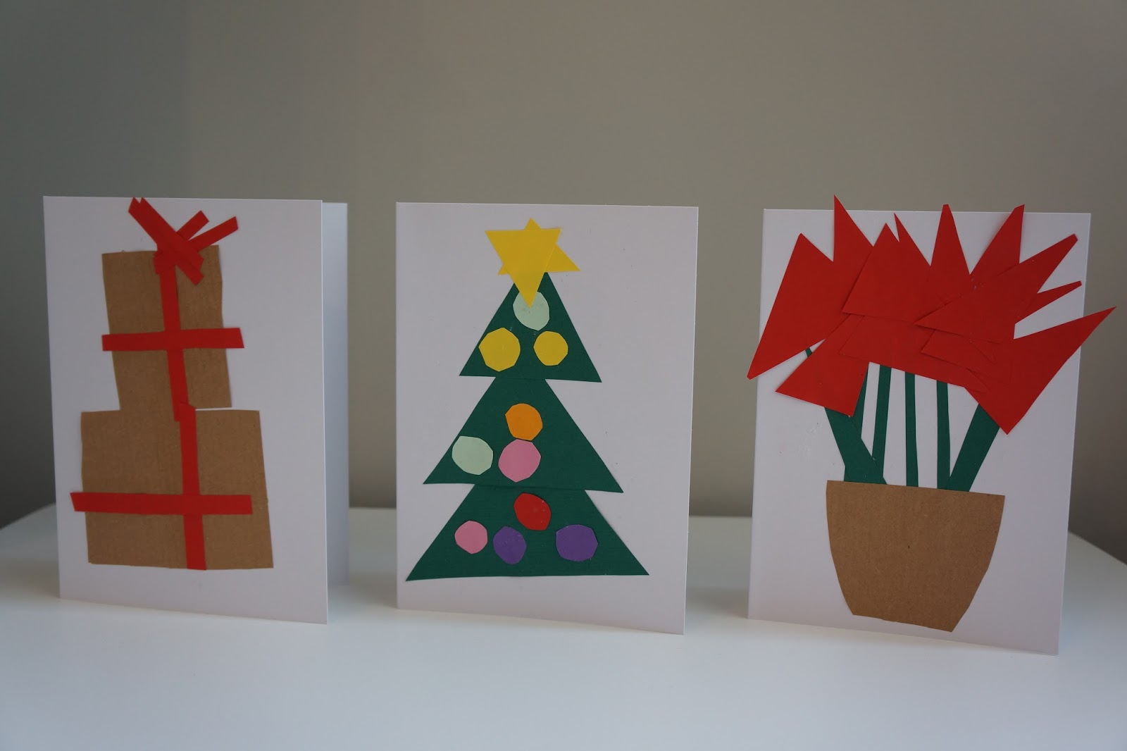 three christmas card paper craft designs