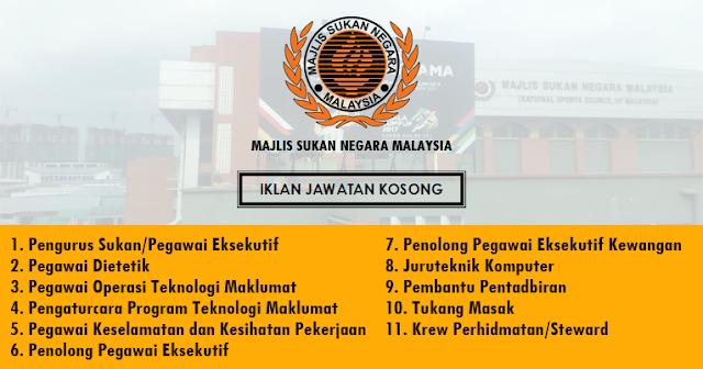 jawatan kosong majlis sukan negara malaysia 2020