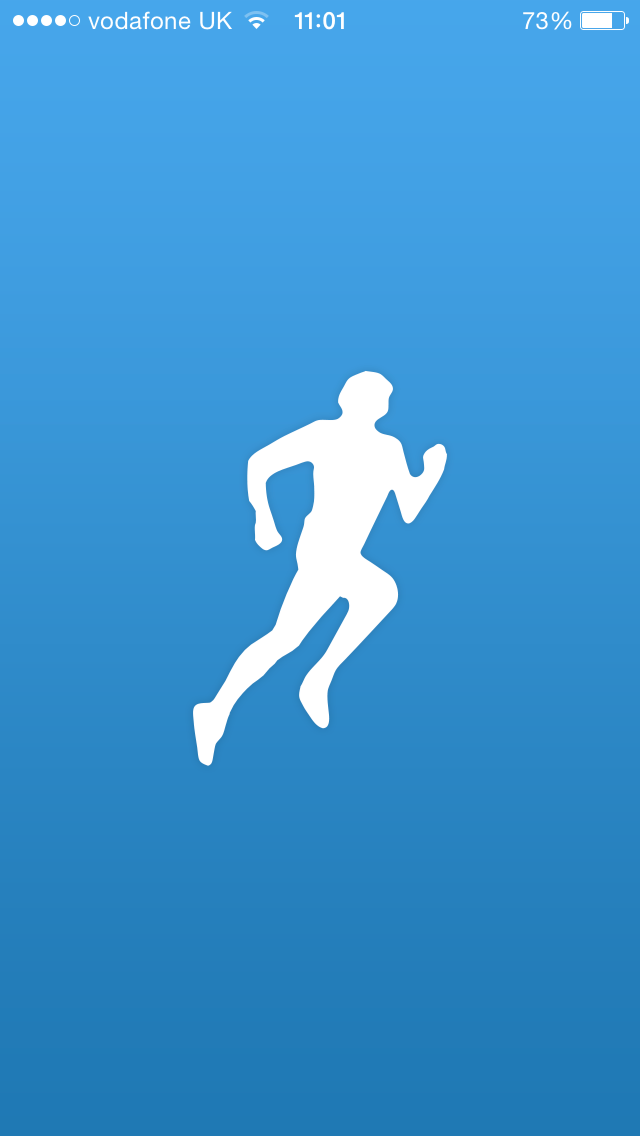 screenshot of the runkeeper mobile app on francescasophia.co.uk