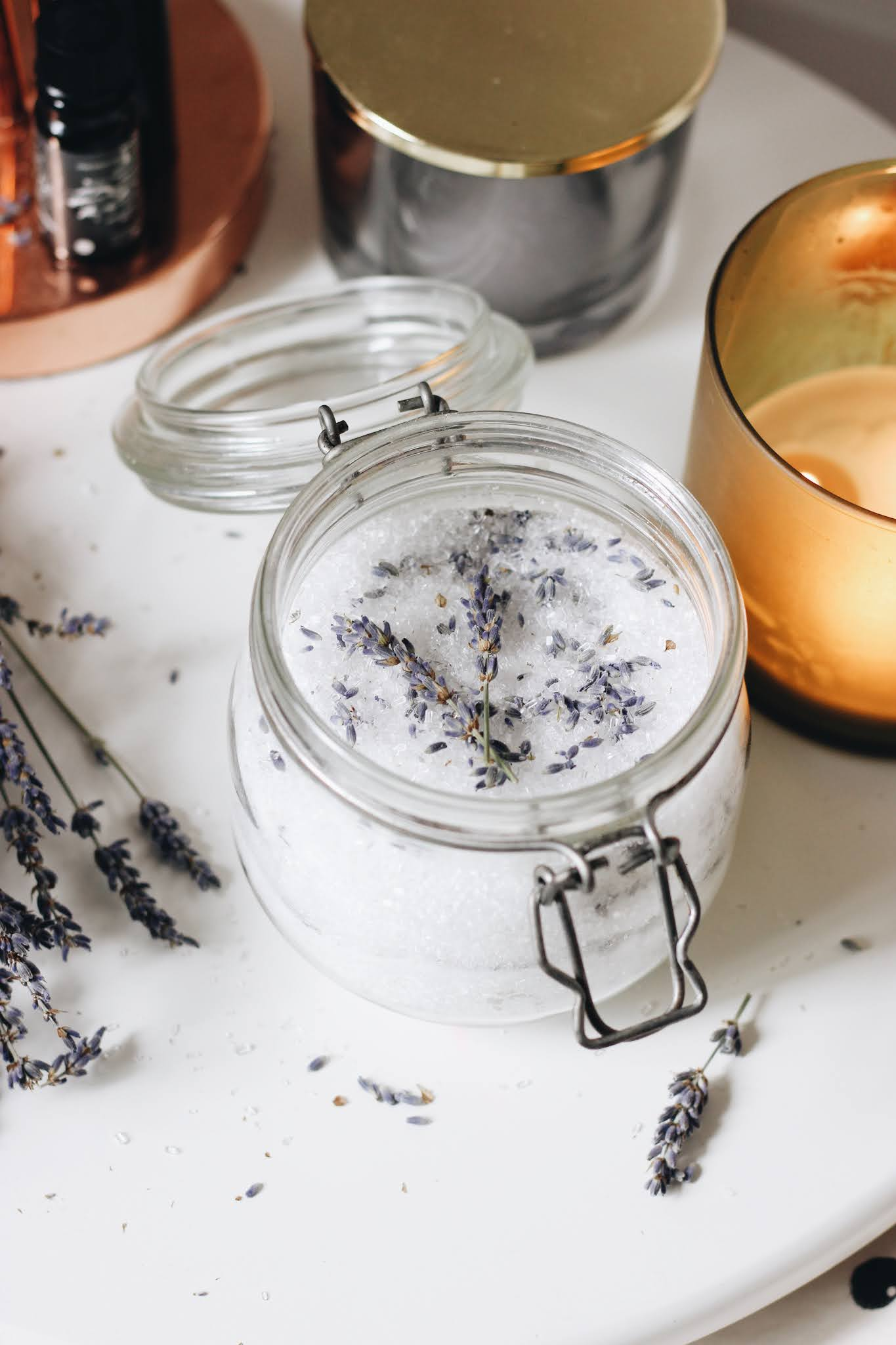 DIY Lavender Bath Soak Salts