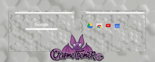White Hex Google Theme  | Chrome Web Store