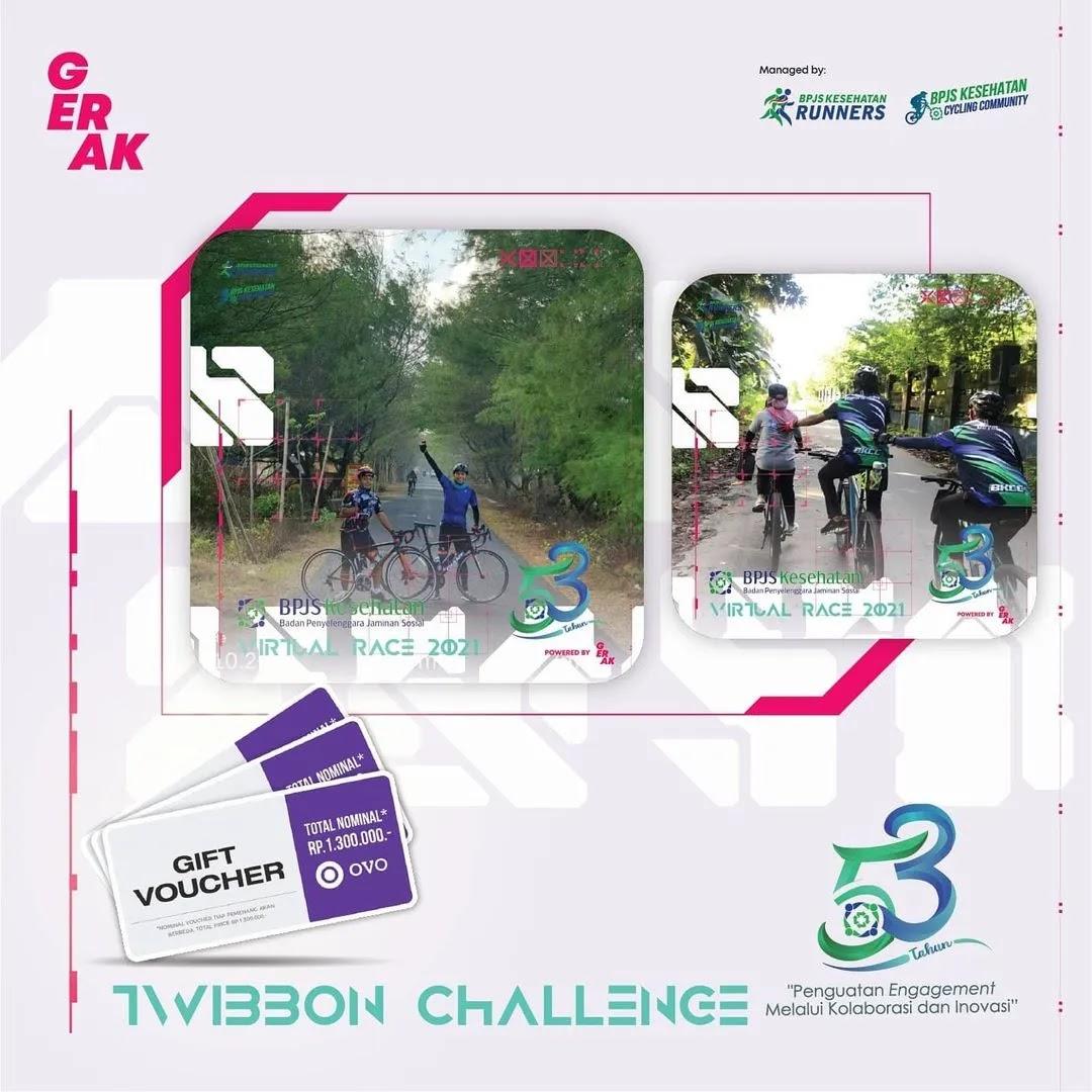 Twibbon 🎗� Virtual Race 53th BPJS Kesehatan • 2021