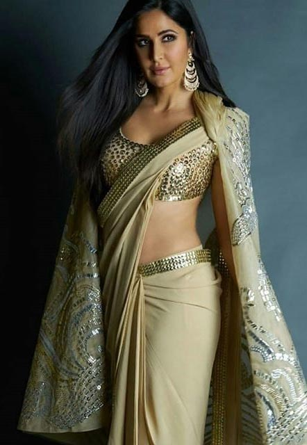 Katrina Kaif style  in saree bollywood actress