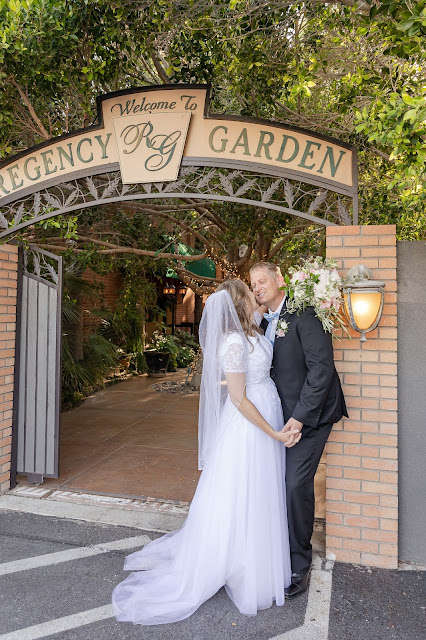 Bride and Groom portraits at Regency Garden in Mesa AZ