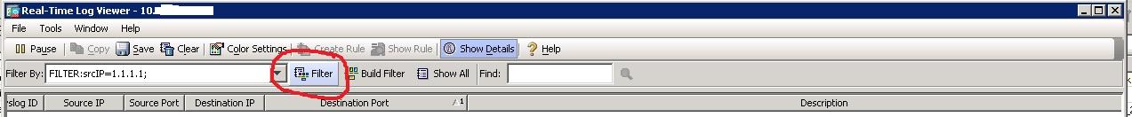 Ciscoshizzle: Cisco ASA Real time log filtering