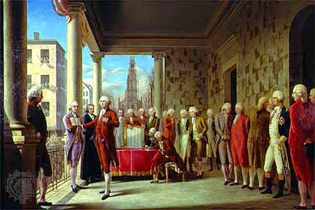 George Washington's Inauguration by Ramon de Elorriaga, 1899