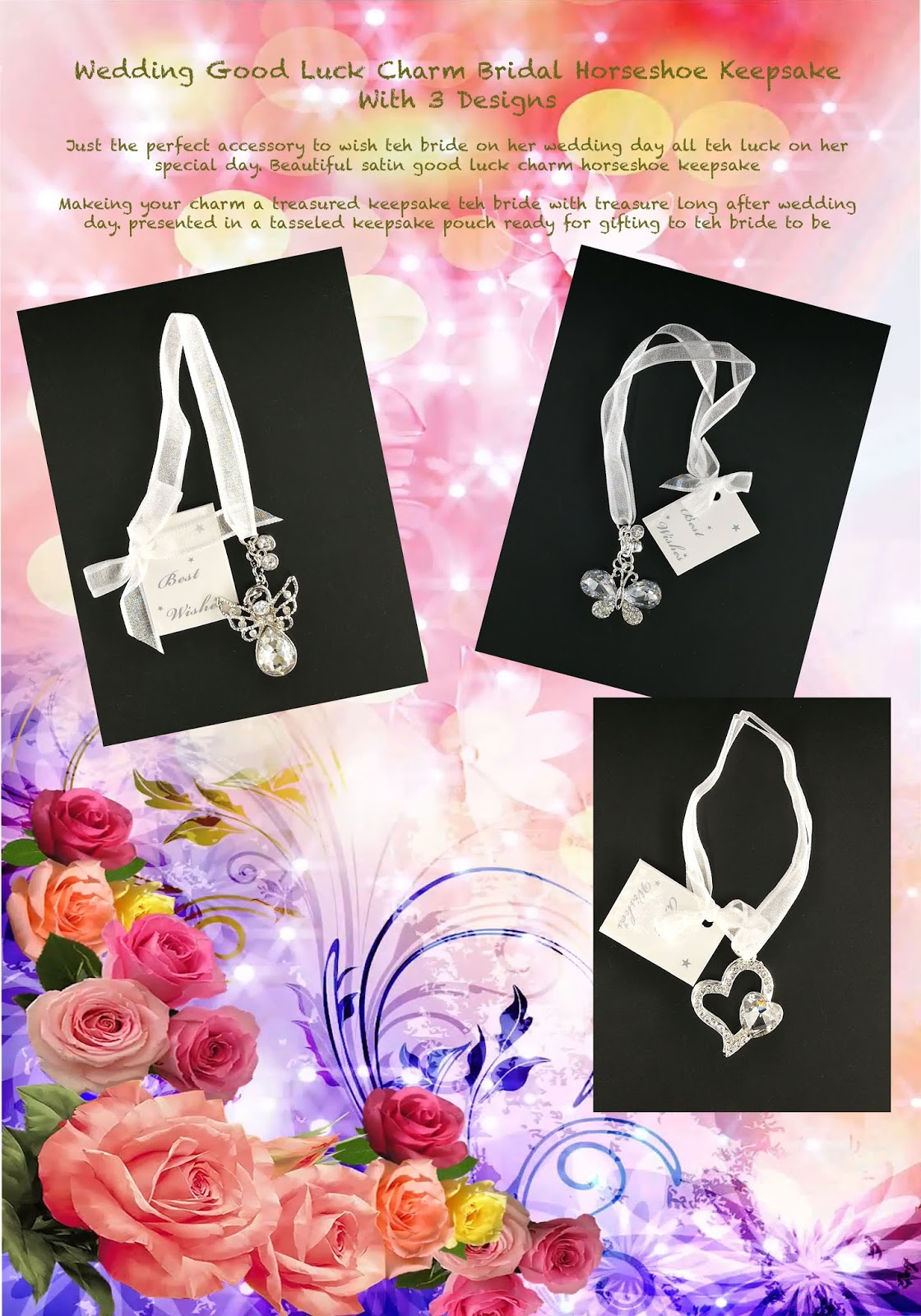 Charm Bridal Luck With Luck Keepsake With 3 Horseshoe
