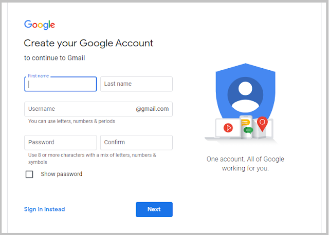 How to create a Gmail account – A Step by Step Guide in 2020
