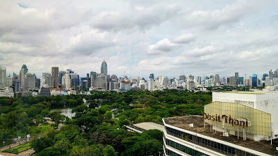 Dusit Thani Bangkok view to Lumphini