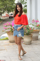 Rhea Chakraborty in Red Crop Top and Denim Shorts Spicy Pics ~  Exclusive 242.JPG
