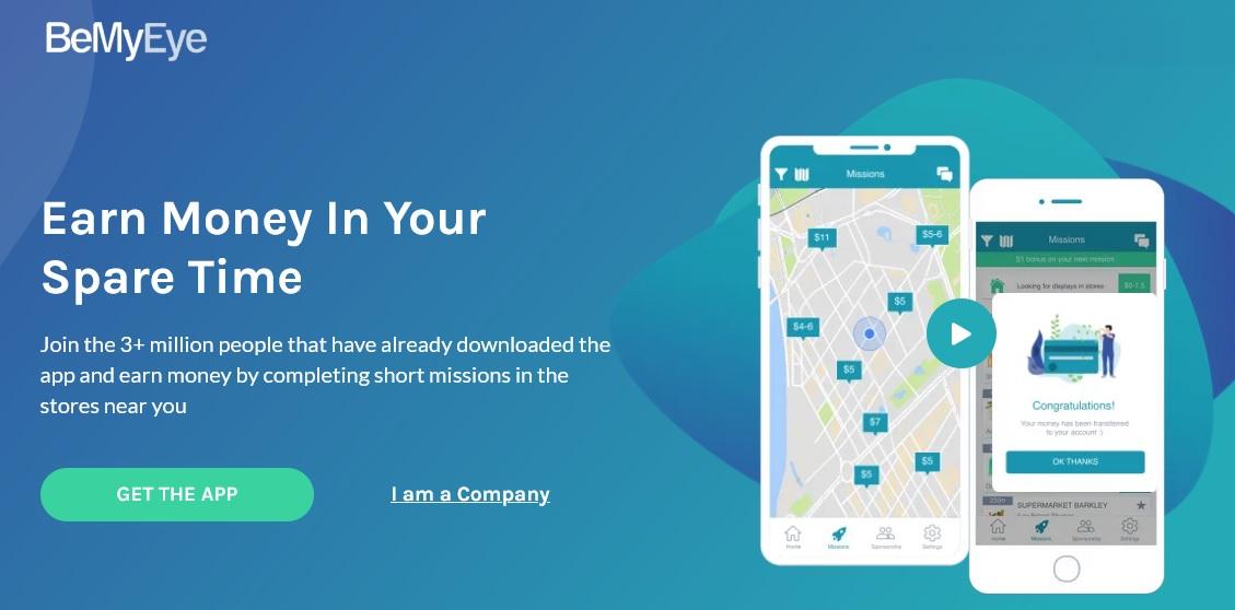 BeMyEye, App para ganar dinero con el móvil