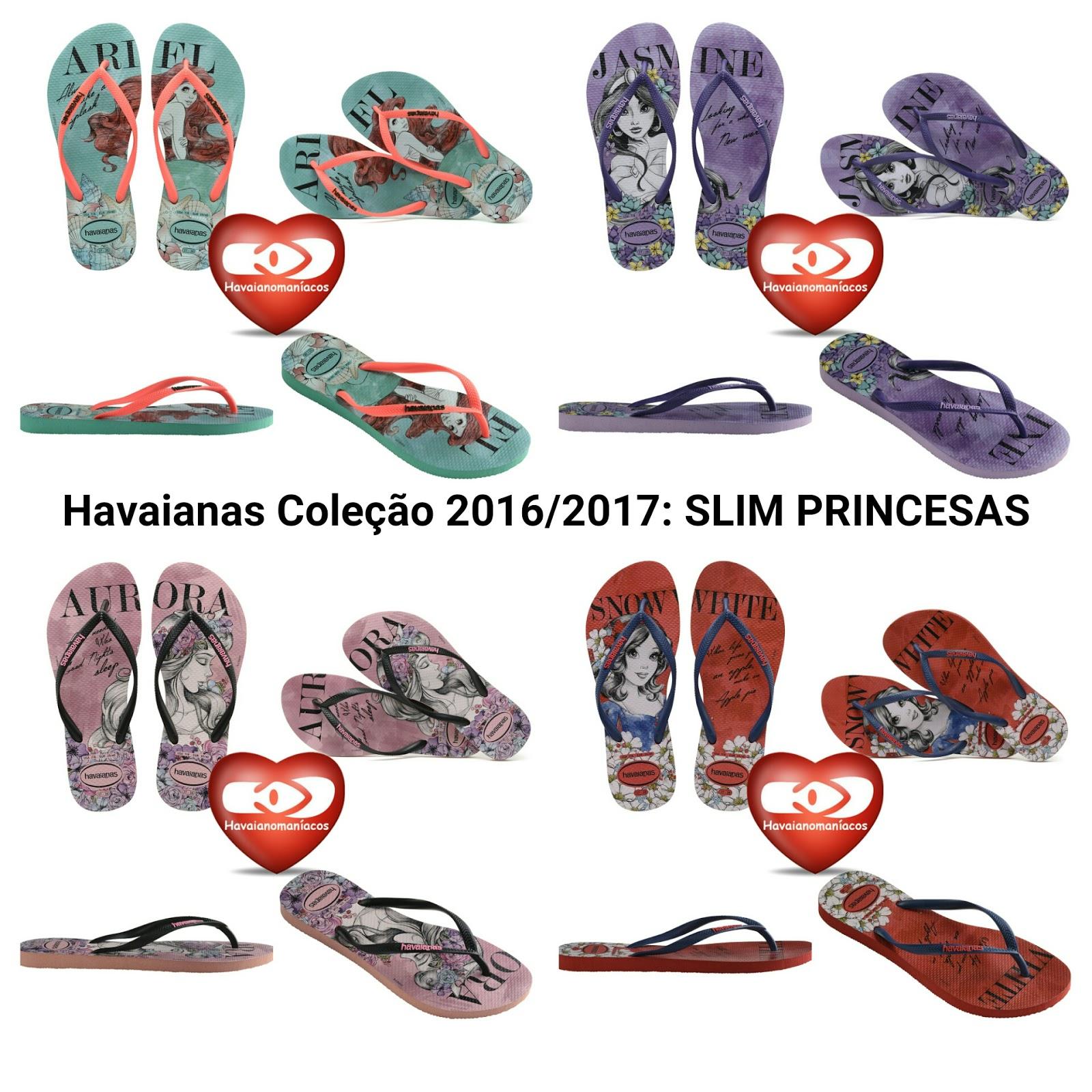 765d94557 Havaianas coleção 2016/2017: HAVAIANAS SLIM PRINCESAS