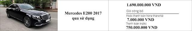 Giá xe Mercedes E200 2017 đã qua sử dụng hấp dẫn bất ngờ