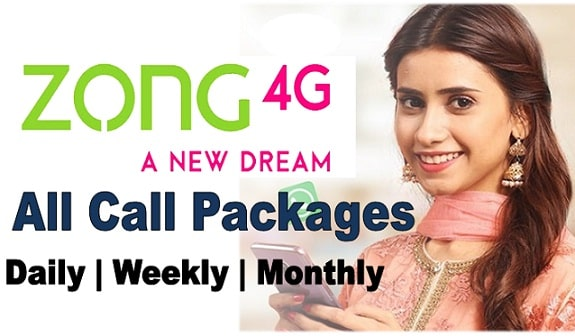 Zong daily, weekly and monthly call packages 2021