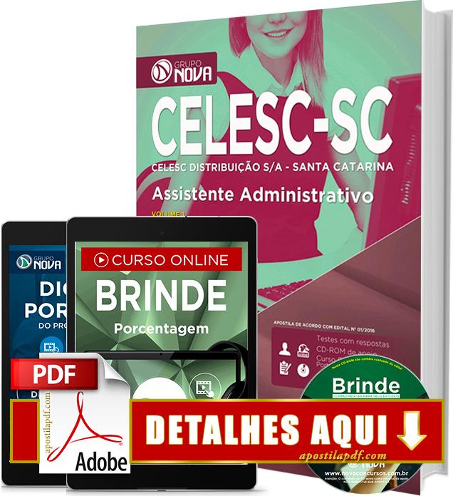 Apostila CELESC 2016 Assistente Administrativo Impressa