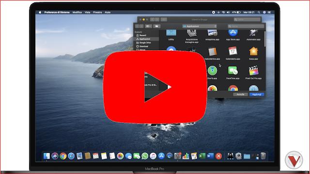 Aggiungere programmi all'avvio - macOS