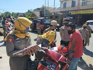 Tim Gabungan Polres Sinjai, TNI dan Satpol.PP Kembali Gelar Operasi Yustisi