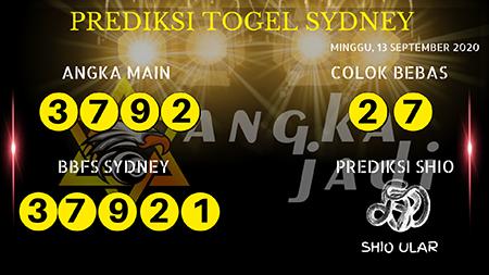 Prediksi Angka Jitu Sydney Minggu 13 September 2020