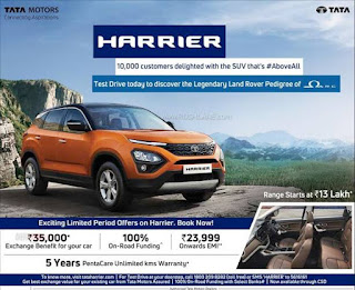 Tata harrier pentacare warranty package