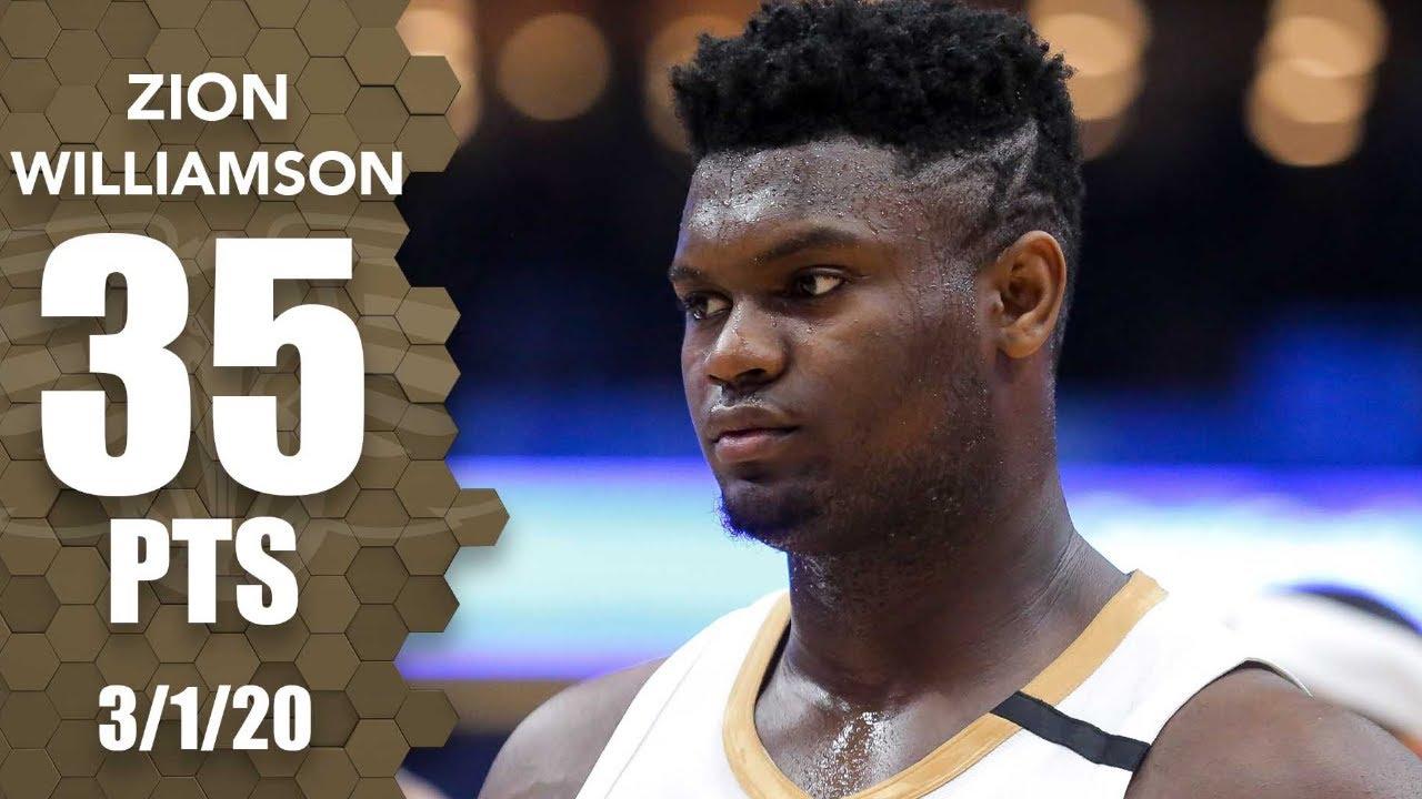 Zion Williamson 35pts 7reb vs LAL | March 1, 2020 | 2019-20 NBA Season